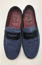 Cole Haan Mens Blue Black Canvas Pinch Maine Classic Loafer Tennis Shoe 10 M