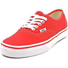 VANS Authentic Men US Size 7 Red Canvas Athletic SNEAKERS Shoes UK 6