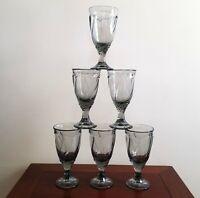 Vintage Collectible NORITAKE Sweet Swirl RARE GRAY Water / Iced Tea Goblet - EUC