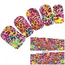 Tattoo Nail Art Leopard Muster Aufkleber Water Decall Neu!