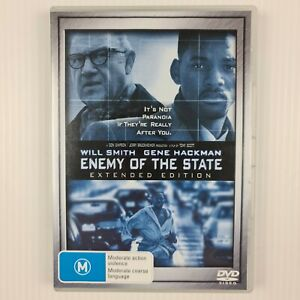 Enemy Of The State DVD - Will Smith - Gene Hackman - Region 4 - TRACKED POSTAGE