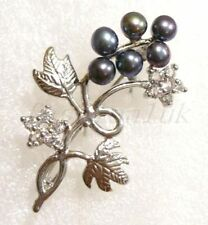Pearl Silver Plated Fashion Brooches
