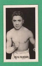 AMALGAMATED PRESS LTD. - SCARCE BOXING CARD -  PETE  HERMAN  - 1922