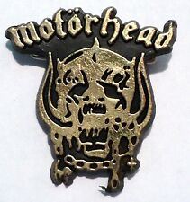 Vintage Original 1980's Motorhead Heavy Metal Rock Band Music Badge Lemmy