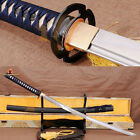 FULL TANG HANDMADE SAMURAI KATANA SHARP JAPANESE SWORD 1060 CARBON STEEL BLADE
