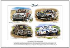 Ford Escort Mk1 Rally Auto - Kunstdruck A3 Größe - Rac Mikkola Makinen RS1600
