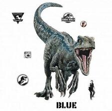 Jurassic World Fallen Kingdom BLUE VELOCIRAPTOR DINOSAUR wall stickers 10 decals