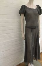 Nicole Farhi Silk Seethrough Beautiful Belted Dress Size UK 16 US 12 IT 46