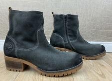 Neu! s.Oliver Damen Gr. 40 Boots grau Wildleder Stiefel Velours Stiefeletten Q4