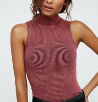 NEW Free People Intimately No Looking Back Washed Cami Berry Sz XS/S-M/L $49.78