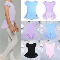 Toddler Girls Ballet Leotard Gymnastics Bodysuit Tutu Skirt Dancewear Costume