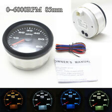 85mm LED Digital Tachometer Gauge w/ Hourmeter RPM fit for Car Truck Marine Boat