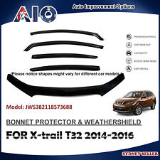 AD BONNET PROTECTOR & WEATHERSHIELD FOR NISSAN Xtrail X-TRAIL T32 2014-2016