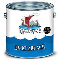 2,5 kg Halvar 2k Klarlack mit Härter SET glänzend Transparent 2 Komponentenlack