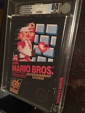 Super Mario Bros 1985 Black Seal CBHT VGA Graded 80Q First Print NES Nintendo