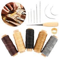 14Pcs Aiguilles à coudre Set goupilles Cuir Ciré Couture Outil en cuir Main