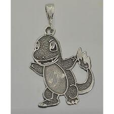 0301 Charmander Pokemon Pendant Charm Sterling Silver Jewelry fire type dragon