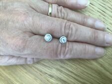 18ct White Gold Cluster Diamond Earrings.