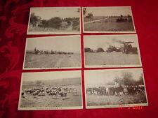 6 Vintage P/C's - Galilee, Pa. - FARM SCENES - HORSE & STEAM POWERED EQUIPMENT