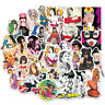 100Pcs Retro Sexy Girl Skateboard Stickers DIY Laptop Luggage Stickers Decals
