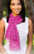 LACY Winding Path Scarf/Apparel/Crochet Pattern INSTRUCTIONS ONLY