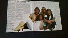 Abba.Somebody Gave Them A Call Original Print Promo Pic/Text