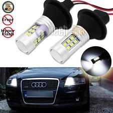 2x Error Free White 1156 7506 Led Bulbs w/ Resistors For Audi Daytime Drl Lights