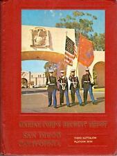 US Marine Corps Recruit San Diego California 1981 Platoon 3039 Yearbook USMC