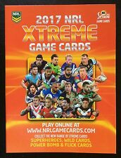 2017 NRL XTREME TRADING GAME CARD ALBUM WITH FULL PARALLEL SET - 160 CARDS