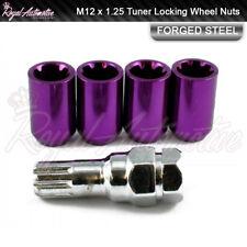 4x Toyota GT86 Subaru BRZ Tuner Locking Wheel Nuts Purple M12x1.25 Slim Drive