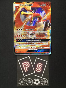 ULTRA RARE Ho-Oh GX 21/147 Burning Shadows Legendary Pokemon Card Holo Foil