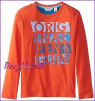 PENGUIN ORIGINAL TOP TEE SHIRT LONG SLEEVE BOYS  2T 3T 4T ORANGE NEW
