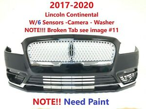 2017 2018 2019 2020 lincoln continental front bumper w/6 sensors-washer-camera#1