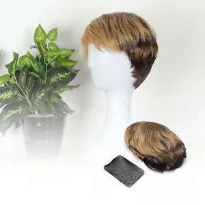 Stylish Women Pixie Cut BOB Wig Short Straight Hair Wigs Lady Black Gold Wig
