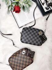Designer inspired checker shoulder bag with stud detailing (Various colours)