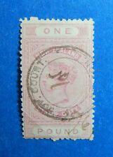 1882 1P NEW ZEALAND STAMP DUTY REVENUE SCOTT# AR15 SG#F21 B# 226 USED    CS33360