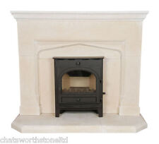 THE SUFFOLK LIMESTONE  FIRE SURROUND   / STONE FIREPLACE / FIRE PLACE SURROUND