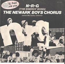 NEWARK BOYS CHORUS--PICTURE SLEEVE + 45---(ENERGY SONG)--PS--PIC--SLV