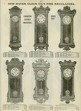 Catalog Page Ad Clocks New Haven Regulator Clocks Octagon Tampa Banks Oak 1907