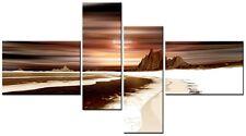 4 PANEL TOTAL 138x78cm  CANVAS WALL ART ABSTRACT PRINT VENUS 3 Brown