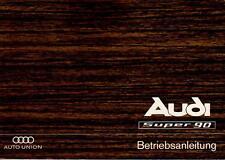AUDI   SUPER  90    F103 Betriebsanleitung 1966 Bedienungsanleitung Handbuch  BA