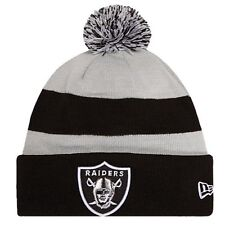 New NFL Oakland Raiders NEW ERA Sport Knit Pom Knit Cap Beanie
