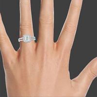 1 3/4 CT DIAMOND ENGAGEMENT RING ENHANCED PRINCESS H/SI1 14K WHITE GOLD SIZE 4-9