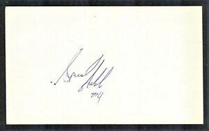 Spud Webb Atlanta Hawks Signed 3x5 Index Card JSA {5'6'' 1986 Slam Dunk Winner}