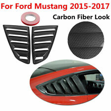 For Ford Mustang 2015-2018 1/4 Quarter ABS Side Window Louvers Scoop Vent Cover