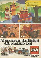 X9178 Lego - Fai amicizia con i piccoli indiani - Pubblicità 1977 - Advertising