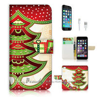 ( For iPhone 6 / 6S ) Wallet Case Cover P0485 Christmas Tree