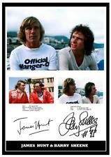 199.  JAMES HUNT & BARRY SHEENE SIGNED  A4  PHOTOGRAPH .....
