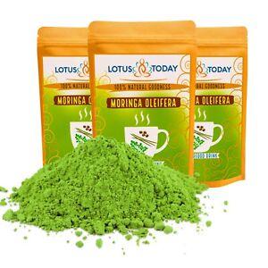 Organic Moringa Energy & Immune Boost - Moringa Supergreen Leaf Raw Vegan Powder