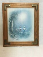 "Andres Orpinas Framed Print Children In Meadow Forest 10"" x 12"""